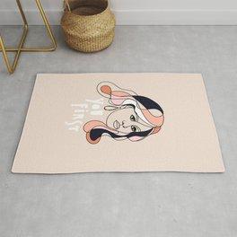 Line-art portrait - Female Icon, Michelle Rug