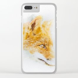 Foxy Lady Clear iPhone Case