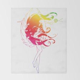 Rainbow Naraku - White Throw Blanket