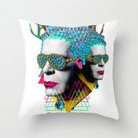 karl Throw Pillows featuring karl by DIVIDUS
