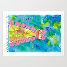 7 Penny the Pink Elephant Art Print