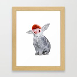 LUNAR RABBIT Framed Art Print
