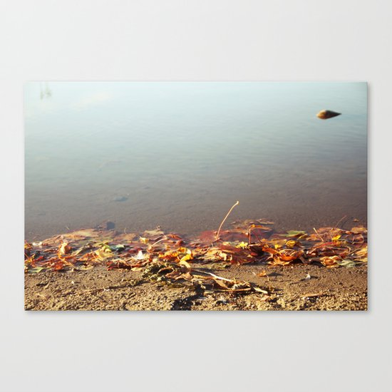 Autumn by the water Canvas Print