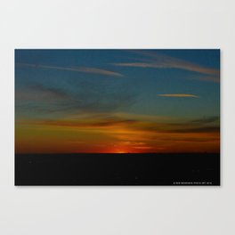 Prairie Sunset #1 (Chicago Sunrise/Sunset Collection) Canvas Print