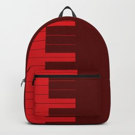 Red Piano Keys Backpack
