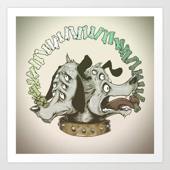 Dog Trick Art Print
