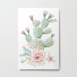 Cactus 3 White #society6 #buyart Metal Print