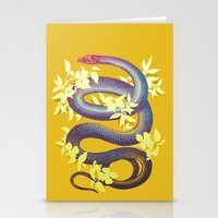 snake Stationery Cards featuring Snake by The Wildest Little Things