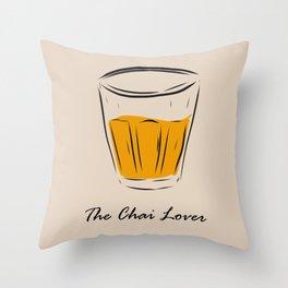 The Chai Lover Throw Pillow