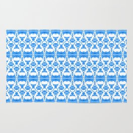 Dividers 02 in Blue over White Rug