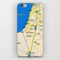 israel iPhone & iPod Skins featuring Israel Map design by Efratul
