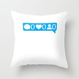 Forever Alone Design For Single People Funny Quote Gift design Throw Pillow