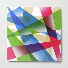 Geometric Fractal Prism Metal Print