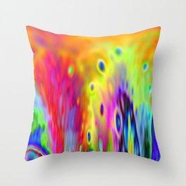 Color Fountain Throw Pillow