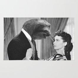 Sloth with Rossella O'Hara Rug