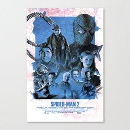 Vintage Spider-Man 2 (2004) Alternative Movie Poster Canvas Print