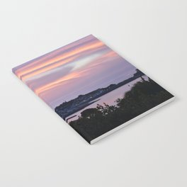 Pink sky on the sea Notebook