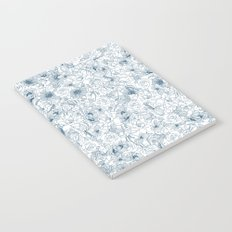 blue flower Notebook