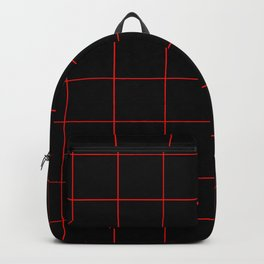 Graph Paper (Red & Black Pattern) Backpack