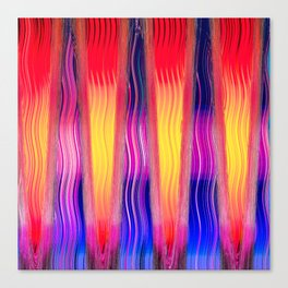 Hot Color Waves Canvas Print