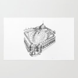 Temple . XVIII Century. Drawing by Tereza Del Pilar Rug