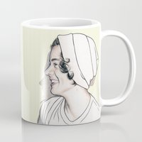 harry styles Mugs featuring Harry Styles by Cécile Pellerin