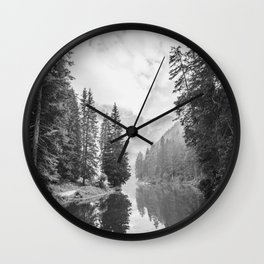 The Perfect View (Black and White) Wall Clock