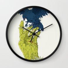 Corvo-papa-zumbi Wall Clock