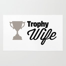 Trophy Wife Quote Rug