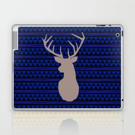 Deer on triangle wallpaper Laptop & iPad Skin
