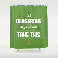 quotes Shower Curtains featuring Zelda Quotes by Janismarika