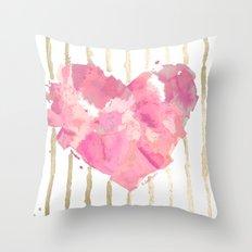 Je t'aime Light Pink Throw Pillow