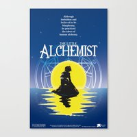 fullmetal alchemist Canvas Prints featuring The Little Alchemist by Fancy Pants Artistry