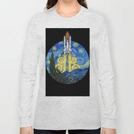 Starry Space Shuttle Long Sleeve T-shirt