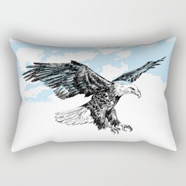 Bald eagle illustration Rectangular Pillow