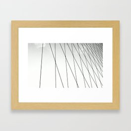 BROOKLYN BRIDGE / NEW YORK Framed Art Print