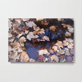 Even Autumn Gets the Blues Metal Print