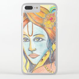 Lord Krishna painting from Russia Clear iPhone Case
