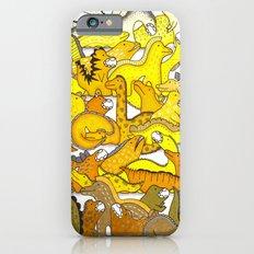 Yellow Dinosaur Gradient iPhone 6s Slim Case