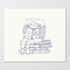 book cat Canvas Print