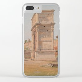 The Arch of Titus in Rome 1839 Clear iPhone Case