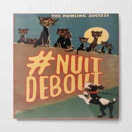 Nuit Debout Metal Print