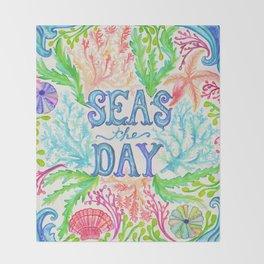 Seas the Day Throw Blanket