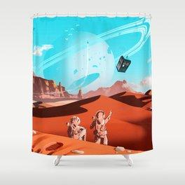 tardis space Shower Curtain