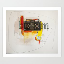 Abstract Boombox Art Print
