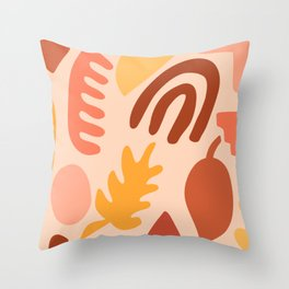 Matisse Autumn Illustration Throw Pillow