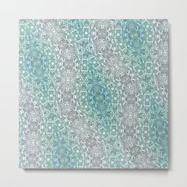 Teal Washout Metal Print
