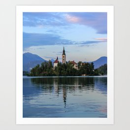 Lovely Lake Bled Art Print