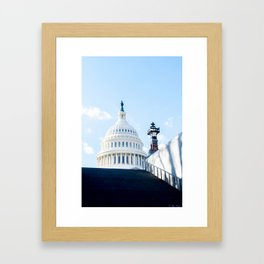 Our Nations Capitol Framed Art Print