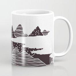 Mountain Peaks Digital Art Coffee Mug